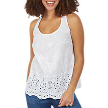 Buy Fat Face Chloe Broderie Camisole Top, White Online at johnlewis.com