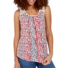 Buy Fat Face Cassie Tribal Stripe Camisole Top, Ivory/Multi Online at johnlewis.com