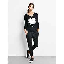 Buy hush Heart Jumper, Black/Ecru Online at johnlewis.com