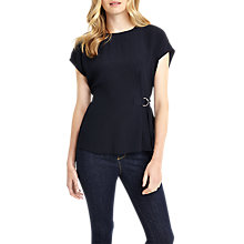 Buy Phase Eight Elmira Buckle Tie Waist Blouse, Navy Online at johnlewis.com