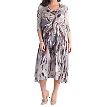 Buy Chesca Feather Print Dress, Silver Grey Online at johnlewis.com