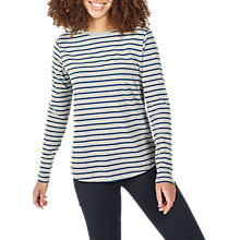 Buy Fat Face Breton Stripe Top, Grey Marl Online at johnlewis.com