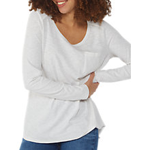 Buy Fat Face Palma Jersey Top, Ivory Online at johnlewis.com