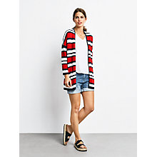 Buy hush Beauvoir Knit Jacket, Racing Red/White/Salute Online at johnlewis.com