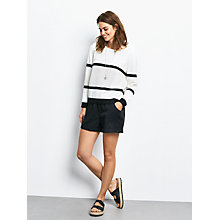 Buy hush Brooke Striped Jumper, Ecru/Black Online at johnlewis.com