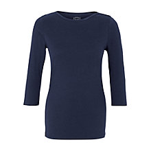 Buy Fat Face Natasha Boat Neck Three-Quarter Sleeve Top Online at johnlewis.com
