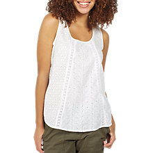 Buy Fat Face Cassie Broderie Cami, White Online at johnlewis.com