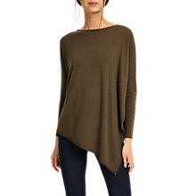 Buy Phase Eight Melinda Asymmetric Jumper, Khaki Online at johnlewis.com