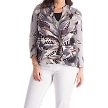 Buy Chesca Feather Print Jacket, Grey Online at johnlewis.com