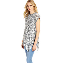 Buy Phase Eight Arizona Printed Blouse, Charcoal Online at johnlewis.com