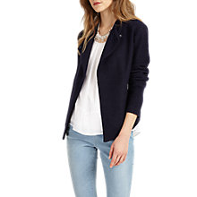 Buy Phase Eight Rosanna Zip Jacket, Navy Online at johnlewis.com