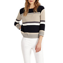 Buy Phase Eight Vedette Striped Jumper, Grey Marl Online at johnlewis.com