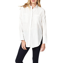 Buy Phase Eight Pria Tencel Shirt, White Online at johnlewis.com