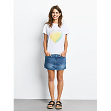 Buy hush Pastel Heart Print T-Shirt, White/Multi Online at johnlewis.com
