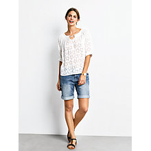 Buy hush Bristol Devore Top, White Online at johnlewis.com