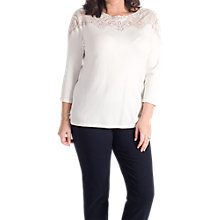 Buy Chesca Embroidered Yoke Jumper, Taupe Online at johnlewis.com