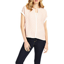 Buy Phase Eight Silvia Spot Blouse, Nude/Ivory Online at johnlewis.com