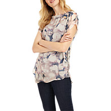 Buy Phase Eight Davina Print Blouse, Ivory/Multi Online at johnlewis.com