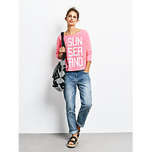 Buy hush Sun Sea Sand Sweat Top, Neon Pink Online at johnlewis.com