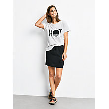 Buy hush Hot Print T-Shirt, Lightest Grey Marl/Black Online at johnlewis.com