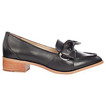 Buy Karen Millen Eyelet Soft Tie Loafers, Black Online at johnlewis.com