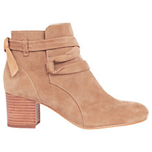 Buy Karen Millen Casual Block Heeled Ankle Boots, Taupe Online at johnlewis.com