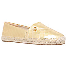 Buy MICHAEL Michael Kors Kendrick Slip On Espadrilles, Gold Online at johnlewis.com