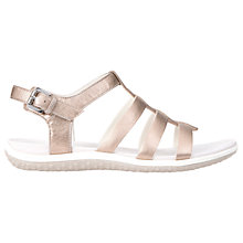 Buy Geox Vega Leather Sandals, Champagne Online at johnlewis.com