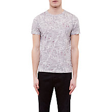 Buy Ted Baker Sayfa Floral Cotton T-Shirt, Grey Marl Online at johnlewis.com