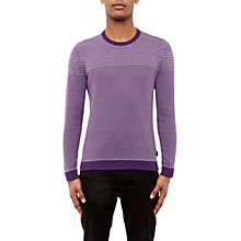 Buy Ted Baker Dynamo Striped Crew Neck Jumper Online at johnlewis.com