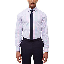 Buy Jaeger Check Regular Fit Shirt, Pink Online at johnlewis.com