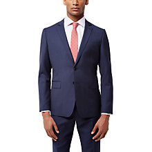 Buy Jaeger Wool Gingham Slim Fit Suit Jacket, Navy Online at johnlewis.com