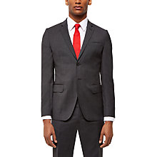Buy Jaeger Wool Puppytooth Slim Fit Suit Jacket, Charcoal Online at johnlewis.com