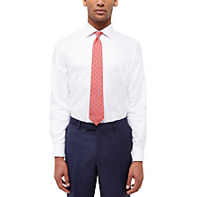 Buy Jaeger Herringbone Cotton Regular Fit Shirt, White Online at johnlewis.com