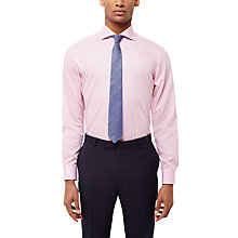 Buy Jaeger Hammerhead Weave Regular Fit Shirt, Pink Online at johnlewis.com