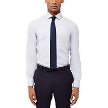 Buy Jaeger Textured Weave Slim Fit Shirt, Ice Blue Online at johnlewis.com