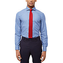 Buy Jaeger Stripe Slim Fit Shirt, Blue Online at johnlewis.com
