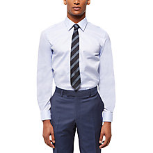 Buy Jaeger Cotton Pindot Regular Fit Shirt, Light Blue Online at johnlewis.com