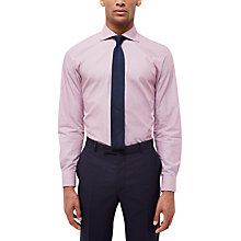 Buy Jaeger Stripe Regular Fit Shirt, Red Online at johnlewis.com