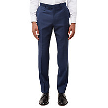Buy Jaeger Wool Gingham Slim Fit Suit Trousers, Navy Online at johnlewis.com
