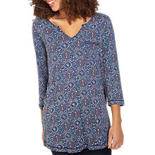 Buy Fat Face Abelia Jewel Geo Top, Indigo Online at johnlewis.com