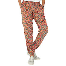 Buy Fat Face Jewel Geo Printed Trousers, Ginger Online at johnlewis.com