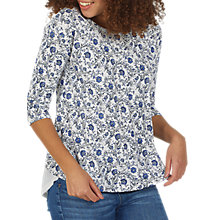 Buy Fat Face Faro Trailing Woodblock Top, Ivory/Multi Online at johnlewis.com