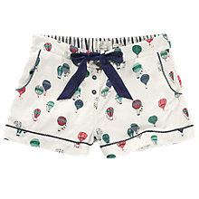 Buy Fat Face Balloon Print Cotton Pyjama Shorts, Ivory Online at johnlewis.com