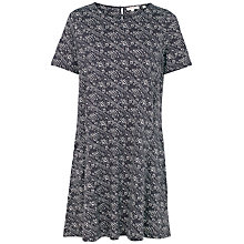 Buy Fat Face Simone Tribal Stripe Dress, Phantom Online at johnlewis.com