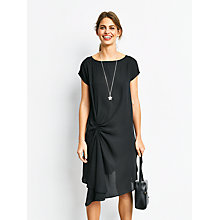 Buy hush Juniper Ruched Dress, Black Online at johnlewis.com