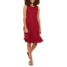Buy Fat Face Karen Embroidered Dress, Claret Online at johnlewis.com
