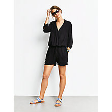 Buy hush Emma Playsuit, Black Online at johnlewis.com