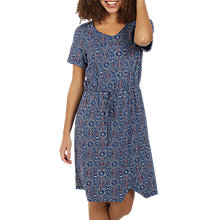 Buy Fat Face Cally Jewel Geo Print Dress, Indigo Online at johnlewis.com