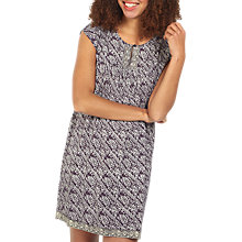 Buy Fat Face Una Tribal Print Dress, Phantom Online at johnlewis.com